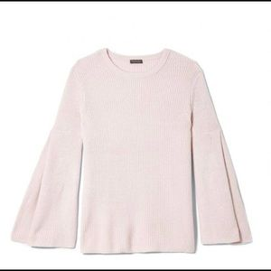 Vince Camuto Pink Bell Sleeve Sweater Size Large